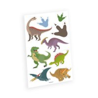 Contient : 1 x 9 Tatouages Happy Dino
