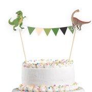 1 Banderole Déco de Gâteau Happy Dino