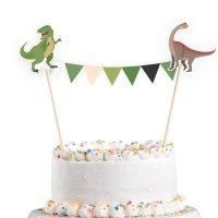 Contient : 1 x 1 Banderole Déco de Gâteau Happy Dino
