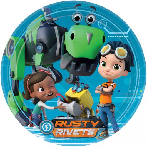 8 Assiettes Rusty Rivets