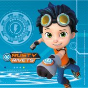 20 Serviettes Rusty Rivets