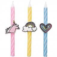 3 Bougies Pastels Licorne