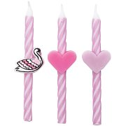 3 Bougie Cygne Coeurs