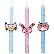 3 Bougies Chat/Chien/Lapin