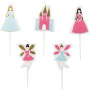 5 Mini Bougies Princesse