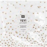 20 Serviettes Confettis Or