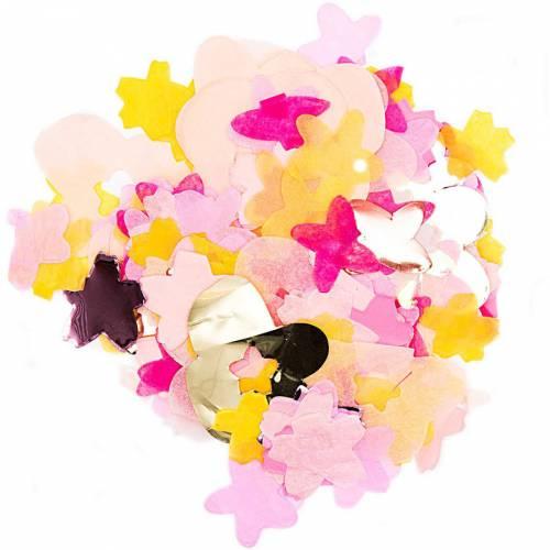 Confettis Mix Fleurs - Rosa