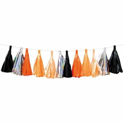 Guirlande Tassel - Orange/Iridescent/Noir