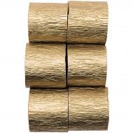 6 Serpentins de Papier crépon - Or