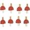 8 Pinces Champignons- Bois images:#0
