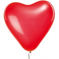 12 Ballons Coeur - Rouge