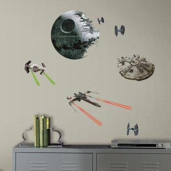 21 stickers muraux star wars etoile noire pour l. Black Bedroom Furniture Sets. Home Design Ideas