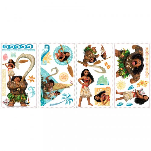 25 Stickers Deco de Chambre Vaiana - Repositionnables