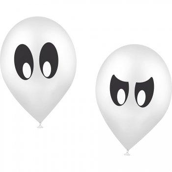 10 ballons imprimés Fantôme