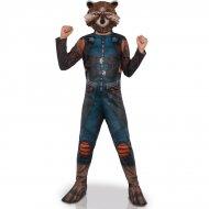 Déguisement Rocket Raccoon + Masque Taille 8-10 ans