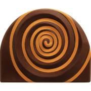 2 Embouts de Bûche Tronc Relief Or - Chocolat
