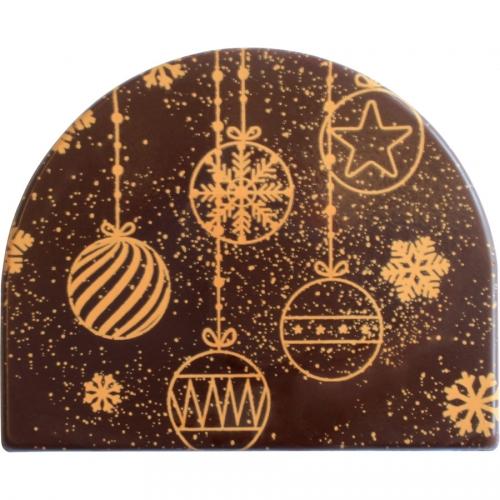 2 Embouts de Boules de Noël Dorées - Chocolat