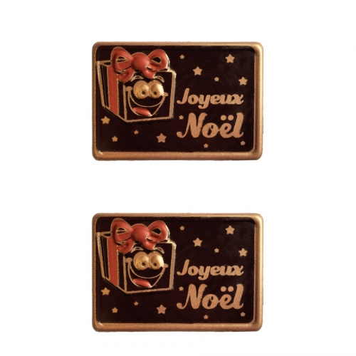 2 Plaquettes Cadeau Relief - Chocolat Noir