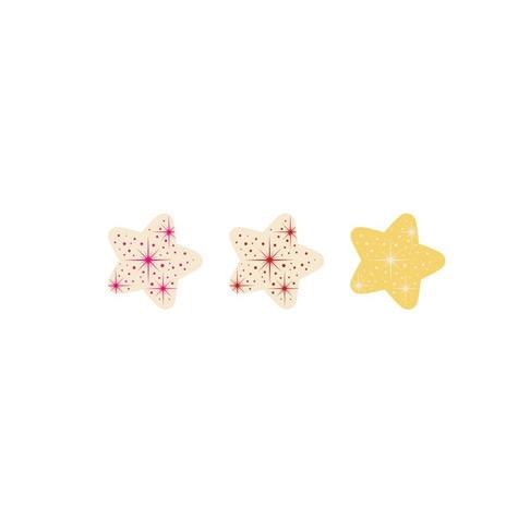 3 Petites Etoiles Or/Rouge/Rose - Chocolat Blanc