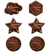 6 Décors Joyeuses Fêtes - Chocolat Noir