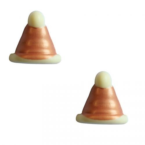 2 Bonnets Noël Cuivre - Chocolat Blanc