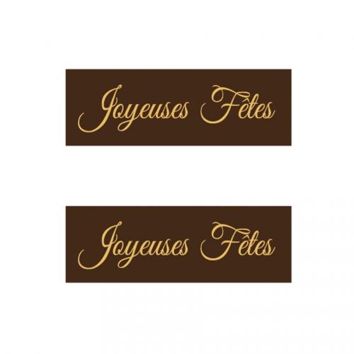 2 Plaquettes Joyeuses Fêtes - Chocolat Noir
