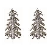 2 Pics Sapins Argent (5,5 cm) - Plastique