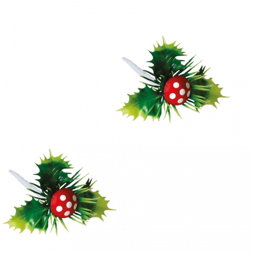 2 Pics Houx Champignon (6 cm)  - Plastique