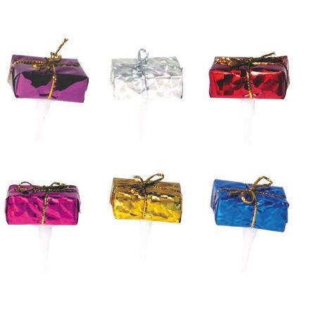 6 Pics Paquets Cadeaux Noël (3 cm) - Aluminium
