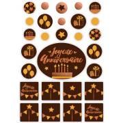 1 Kit Joyeux Anniversaire - Chocolat Noir