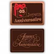 2 Plaquettes Joyeux Anniversaire - Chocolat Noir
