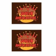 2 Plaquettes Joyeux Anniversaire Rouge - Chocolat Noir