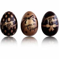3 oeufs 3D Joyeuses Pâques  Noeud Choco/Cuivre - Chocolat
