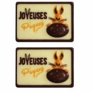 2 Plaquettes Joyeuses Pâques - Chocolat