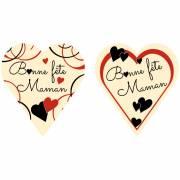 2 Coeurs Bonne Fête Maman - Chocolat