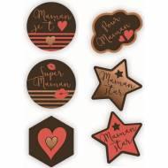 6 Décors Bonne Fête Maman - Chocolat Noir