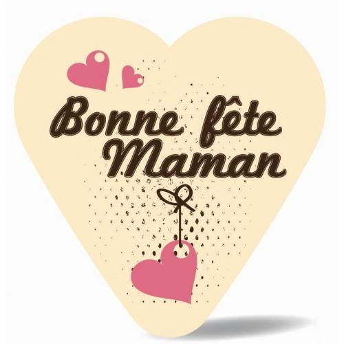 Cœur Bonne Fête Maman - Chocolat Blanc