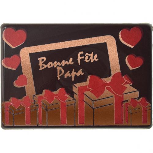 1 Plaquette Bonne Fête Papa - Chocolat