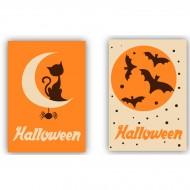 2 Plaquettes Rectangulaires Halloween - Chocolat Blanc
