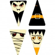 5 Triangles Halloween - Chocolat Blanc