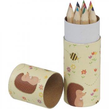12 Crayons de Couleurs Madame Hérisson (8,5 cm)