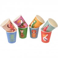 8 Gobelets Animaux Colorama