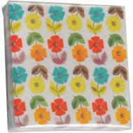 20 Petites Serviettes Fleurs Poppy