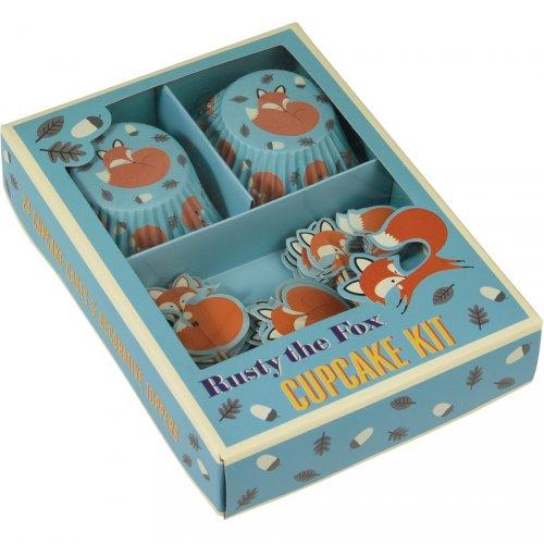 Kit 24 Caissettes et Déco à Cupcakes Renard