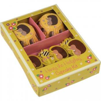 Kit 24 Caissettes et Déco à Cupcakes Madame Hérisson