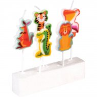 5 Mini Bougies Animaux Colorama (3,5 cm)