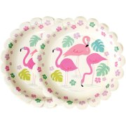 8 Petites Assiettes Flamant Rose Party