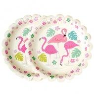 8 Petites Assiettes Flamingo Party
