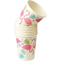 Contient : 1 x 8 Gobelets Flamant Rose Party