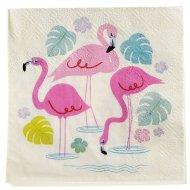 20 Petites Serviettes Flamingo Party